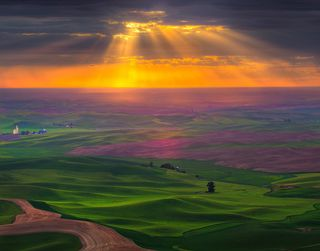 Palouse with sky opening